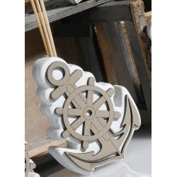 Profumatore resina e legno forma ancora con scatola pvc porta confetti interna e scatola. CM 9x7 MADE IN ITALY