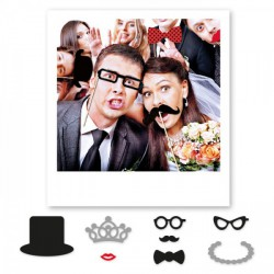 Set 8 accessori per photo booth in cartoncino. CM 20