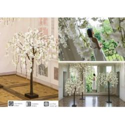 Albero ciliegio bianco con 66 luci LED da interno. H 120