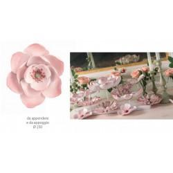 Magnolia rosa da appendere e da appoggio. Diam. 23