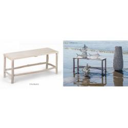 Tavolino bicolor legno e bianco. CM 97x36 H 45
