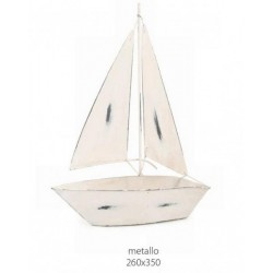 Barca a vela metallo decorativa. CM 26x35