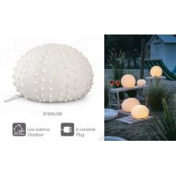 Lampada ceramica riccio di mare con cavo, per uso esterno ed interno. Diam. 40x26.8
