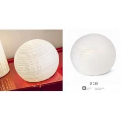 Lampada ceramica traforata con cavo, per uso interno. Diam. 23
