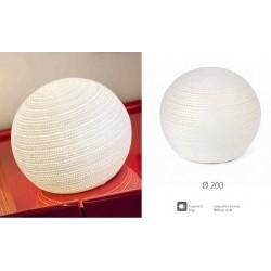 Lampada ceramica traforata con cavo, per uso interno. Diam. 20
