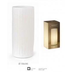 Lampada ceramica traforata con cavo, per uso interno. Diam. 15 H 34.5
