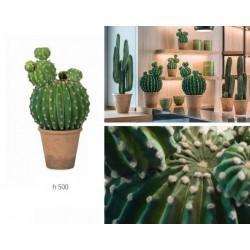 Pianta cactus artificiale. H 50