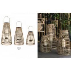 Set 3 lanterne bamboo. Diam. 27-33 H 40-67