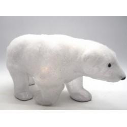 Orso polare floccato con luce LED. CM 52x17 H 24