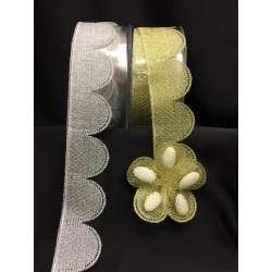 Nastro portaconfetti lurex oro o argento. MM 50 MT 25 - Ca. 95 confezioni