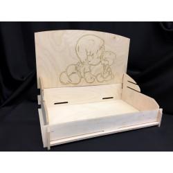 Vassoio legno incastro con incisione laser. CM 40x25