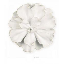 Fiore latta bianca. Diam. 55
