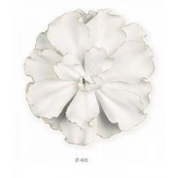 Fiore latta bianca. Diam. 40