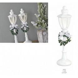 Lampione resina e vetro con luce LED. H 32