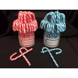 Set 72 pz lecca lecca forma manico ombrello rosa o azzurri. GR 12