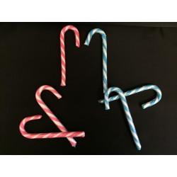 Lecca lecca forma manico ombrello rosa o azzurro. GR 12