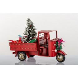 Apecar in metallo con decorazioni natalizie. CM 25