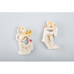 Sposi in resina stilizzati calamita. Ass 2. cm.6