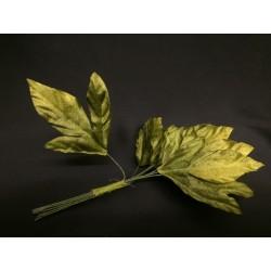 Mazzo 12 foglie tessuto.