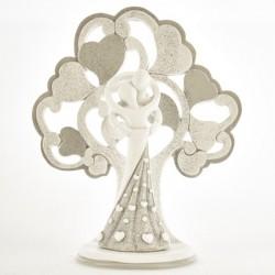 Coppia sposi resina con albero glitter. CM 16