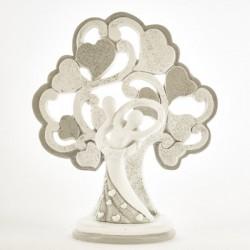 Coppia sposi resina con albero glitter. CM 12