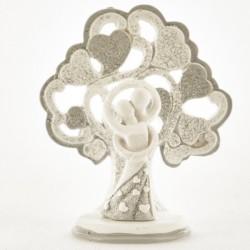 Coppia sposi resina con albero glitter. CM 7