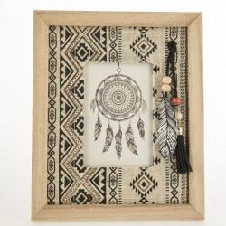 Portafoto legno rettangolare indian. CM 23x19
