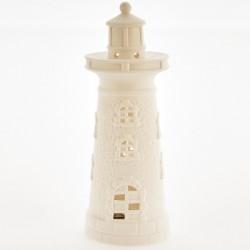 Faro ceramica bianca opaca con luce LED. CM 17