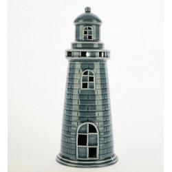 Faro ceramica turchese con luce LED. CM 12