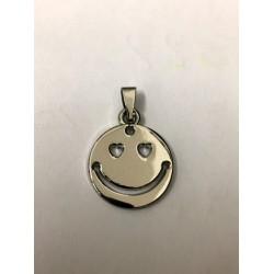 Ciondolo metallo con traforo smile. CM 2.5