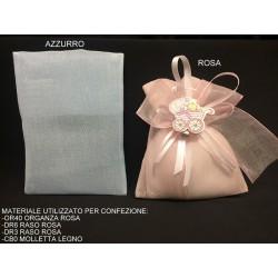 Sacchetto tessuto lucido semitrasparente. CM 10x14