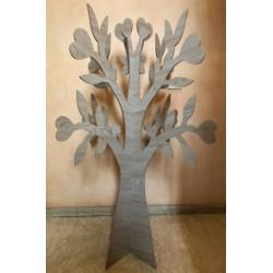Albero legno tortora da allestimento. H 150