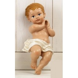 Gesù bambino resina. CM 9.5 H 22