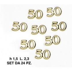 Set 24 applicazione 50° in plastica. CM 2.3 H 1.5