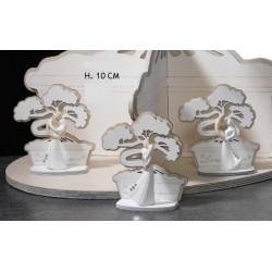 Sposi resina su base in legno albero bonsai. Ass 3. H 10