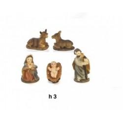 Natività in resina mignon. H 3