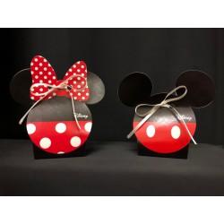 Scatola cartoncino Disney, Topolino o Minnie. CM 5.5x4 H 10
