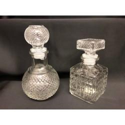 Bottiglietta vetro con tappo. H 11.5-13.5