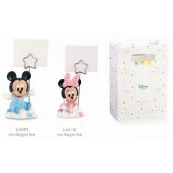 Memo clip in resina Disney con Minnie e Topolino, rosa o azzurro con shopper. H 8 TOT