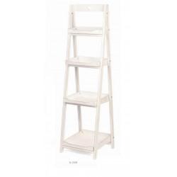 Display legno bianco 4 piani. H 153