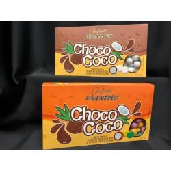 praline di cocco ricoperti di cioccolato al latte e confettati. GR 500