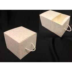 Scatola forma cassetto con decoro harmony. CM 9x9 H 8