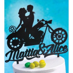 Cake topper in plexiglass satinato nero, 3 MM