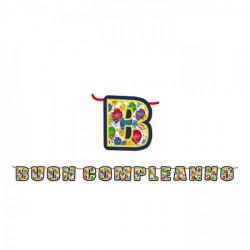 """Festone cartoncino scritta """"Buon compleanno"""". MT 6"""