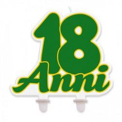 "Candelina sagomata scritta ""18 anni"". CM 13x11"