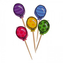 Set 5 candeline forma palloncino. CM 8