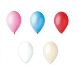 Set 10 palloncini in lattice, colori a scelta, adatti per gonfiaggio ad elio o ad aria. CM 26