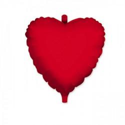 Palloncino mylar cuore rosso, idoneo per gonfiaggio ad elio. CM 45