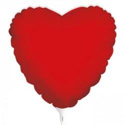 Palloncino mylar cuore rosso, idoneo per gonfiaggio ad elio. CM 25