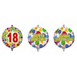 Palloncino mylar compleanno, idoneo per gonfiaggio ad elio. CM 45